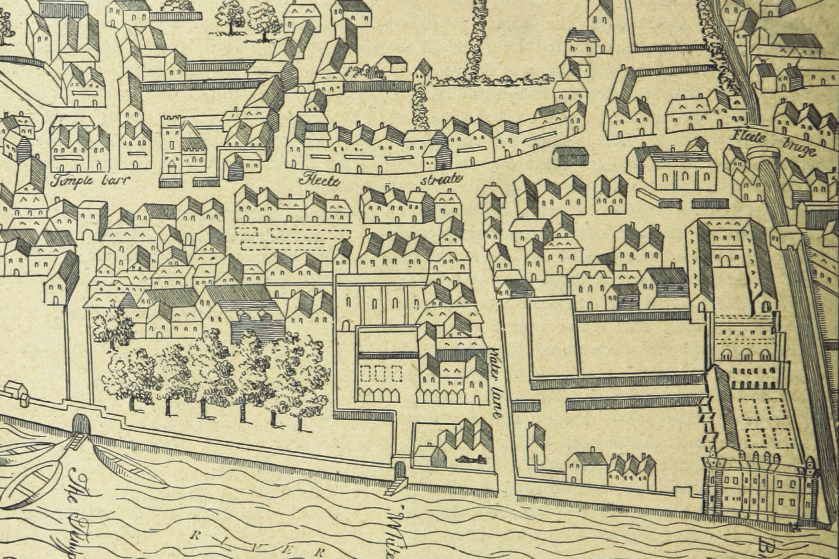 A 16th century map of Westminster.