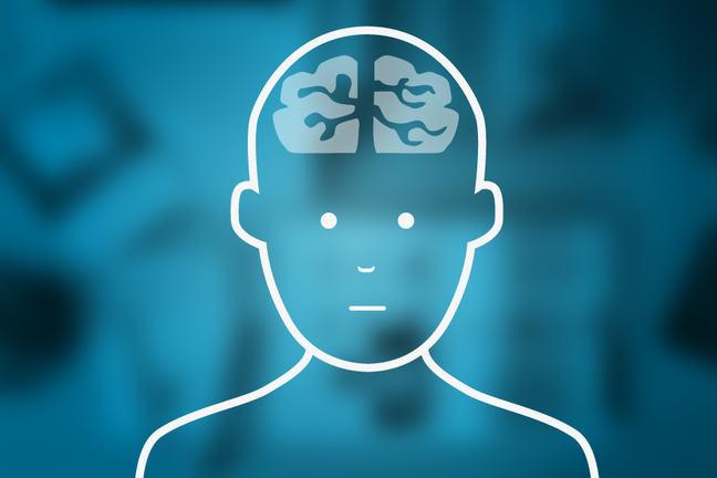 the brain inside a mans head