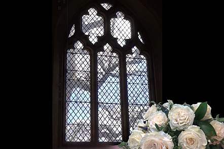 Photo of church stained glass window
