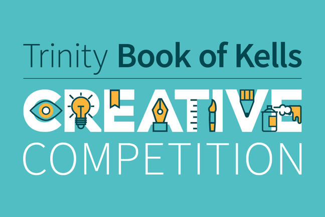 "Graphic that says ""Trinity Book of Kells Competition""."