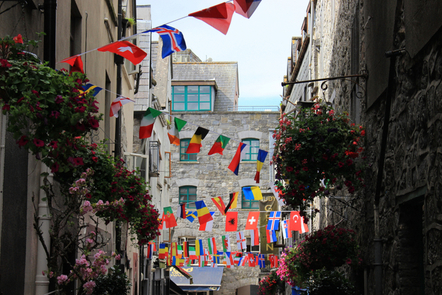 Flags in Galway City