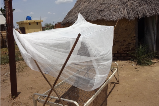 Malpractice of leaving an insecticide treated bed-net in the sun.