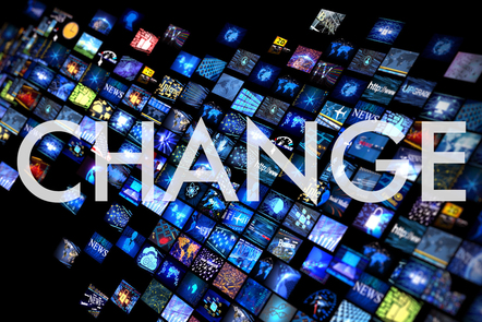 'Change' graphic title card