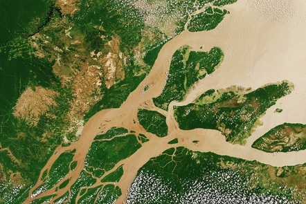 Humans in space: the Earth from space (photo of the Amazon River (c) NASA)