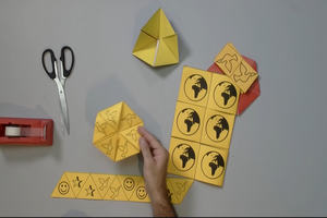 Assortment of flexagons