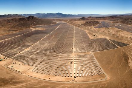 Large PV plant in a wide landscape