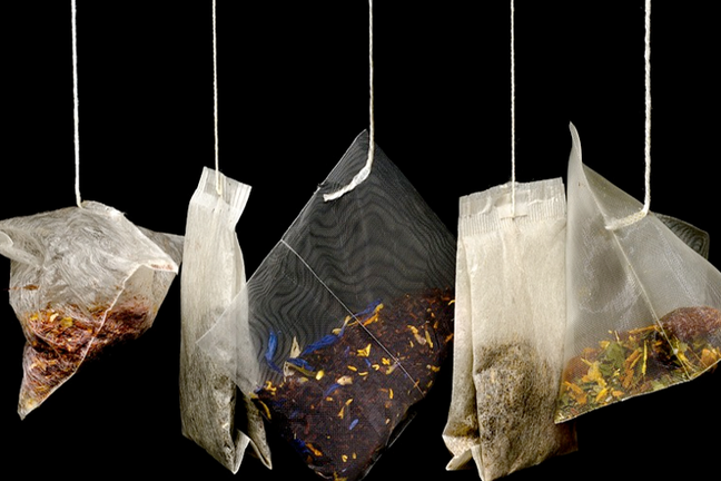 row of teabags