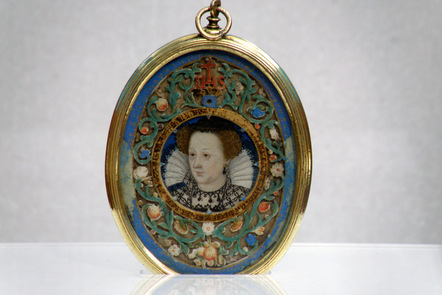 Portrait of Mary Queen of Scots in a reliquary