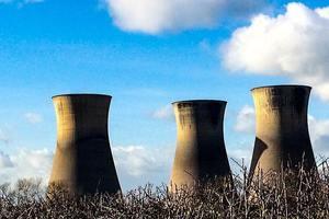 Power station chimneys.