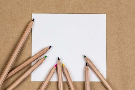 Notebook blank page colorful pencil