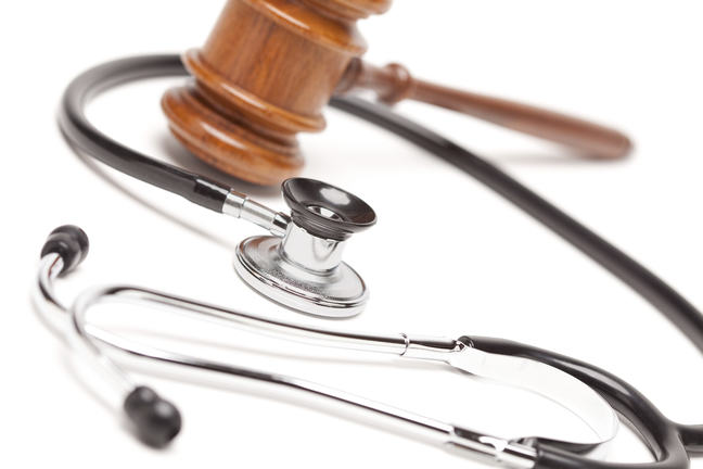 Picture of stethoscope and gavel