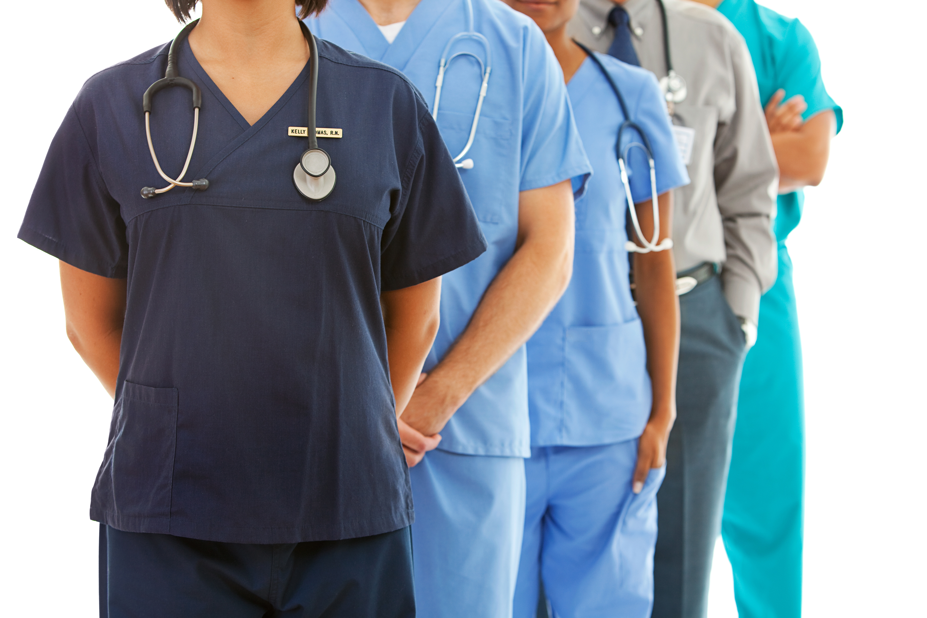A selection of medical staff