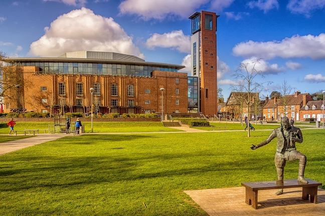 The Royal Shakespeare Company theatre in Stratford upon Avon, UK.
