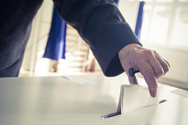 Vote being cast