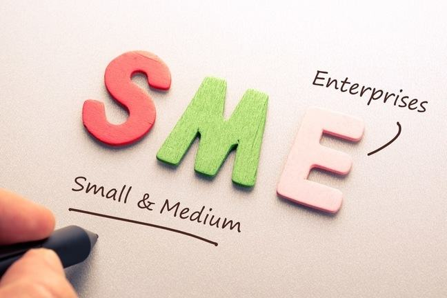 The letters S M E with the words small and medium enterprises