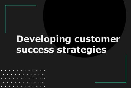 Developing customer success strategies