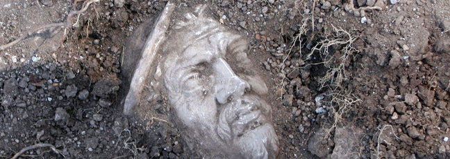 A Portus marble head archaeological find