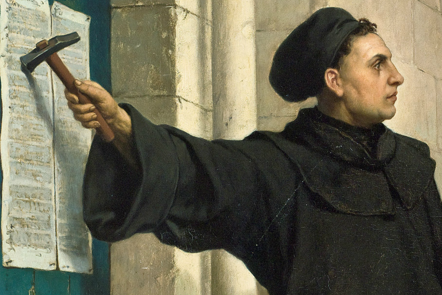 Martin Luther Nailing 95 Theses