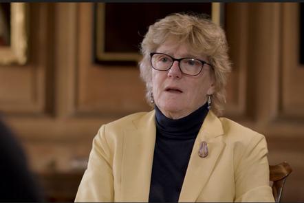 Professor Sally Davies giving an interview on AMR