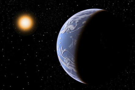 Depiction of planet Kepler otherwise known as Earth 2.0