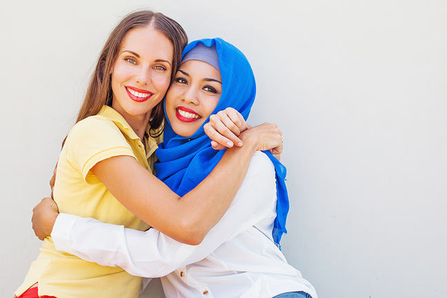 two females two religions