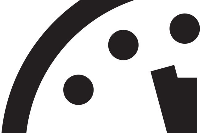 Doomsday clock 2.5 minutes to midnight