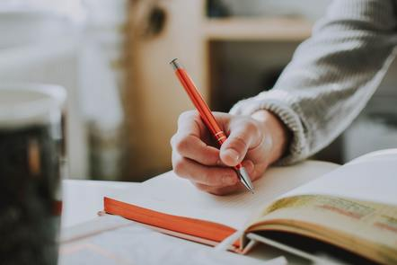 A person who is writing