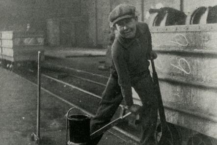 Boy miner working