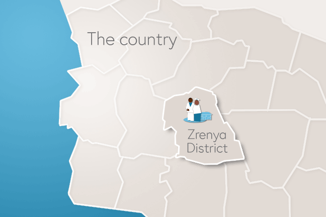Zrenya district case study