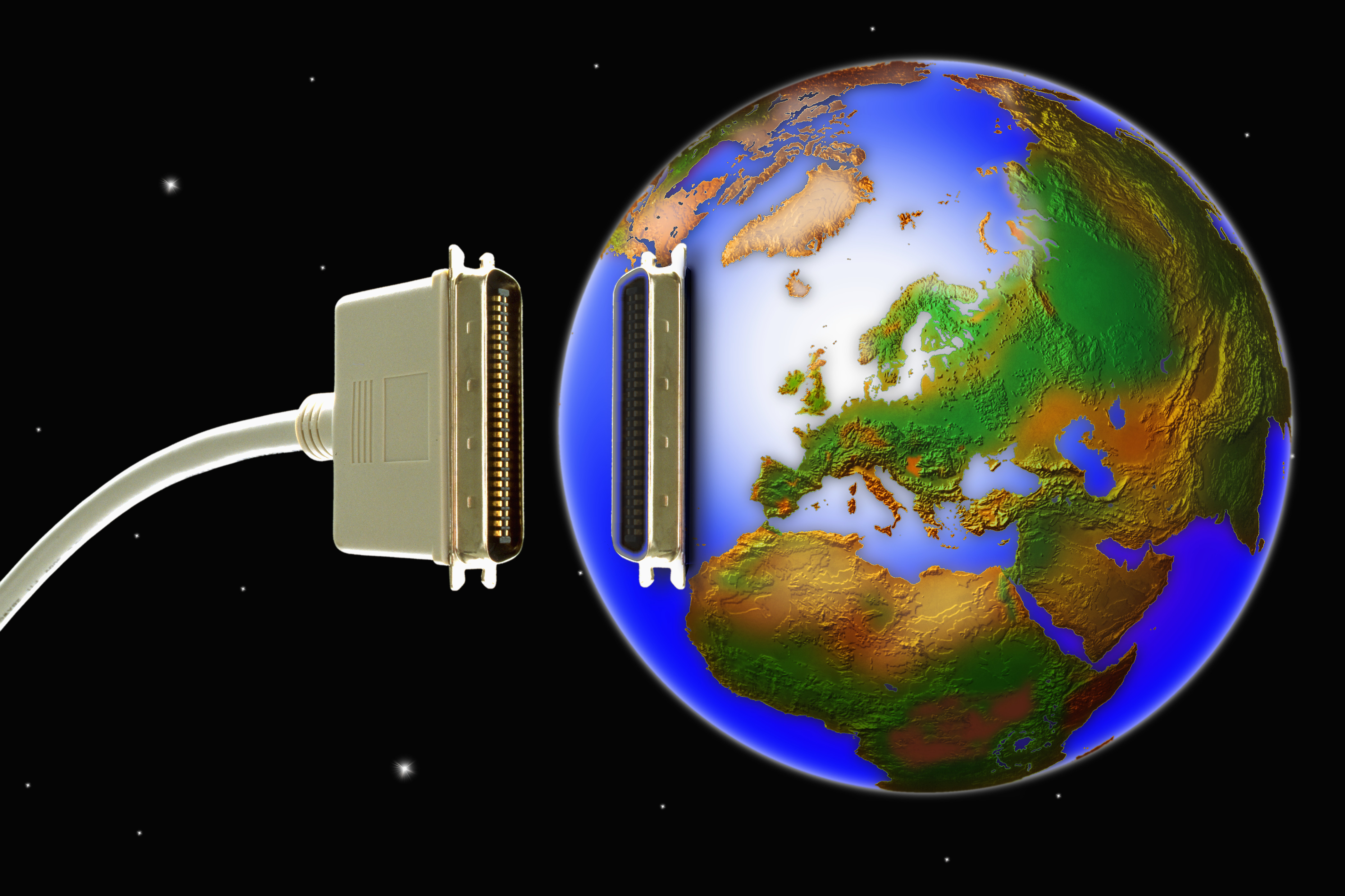 Networking cable connecting the world