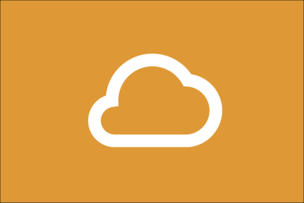 Weather icon of a cloud