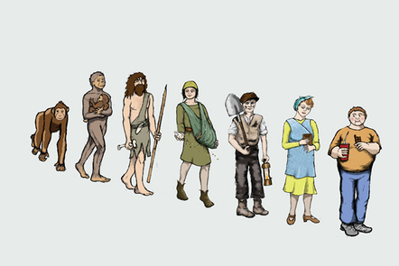Evolution from the Stone Age to Obese Age