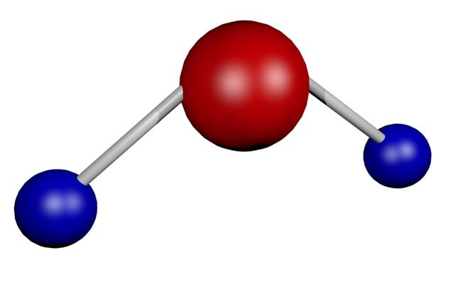 A water molecule.