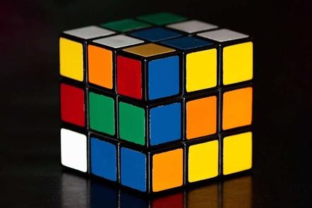 Jumbled up Rubiks cube.