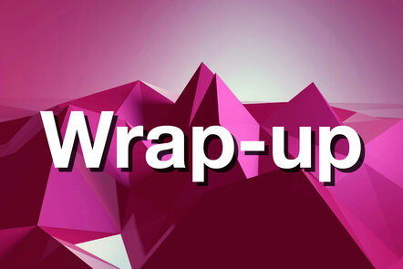 """Within pink mountain with """"Wrap-up"""" written on it."""
