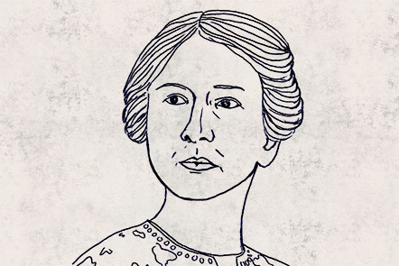 Illustration of Harriet Monroe