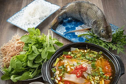 Fish and vegeteble  soup