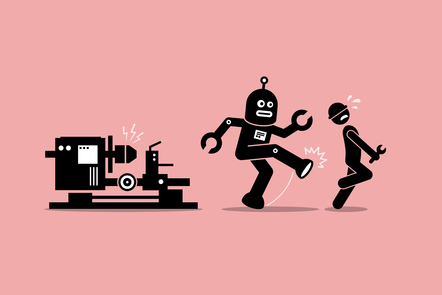 obot-mechanic-kicks-away-human-technician