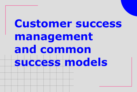 Customer success management and common success models