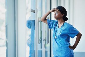Nurse preparing syringe