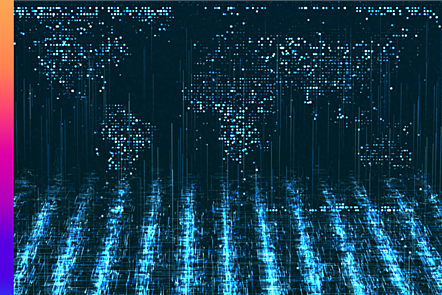Digitally generated image of data points