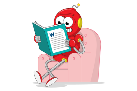 Robot reading a Word document