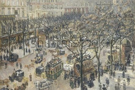 """""""Boulevard des Italiens, Morning"""" by Camille Pissarro (1897)"""