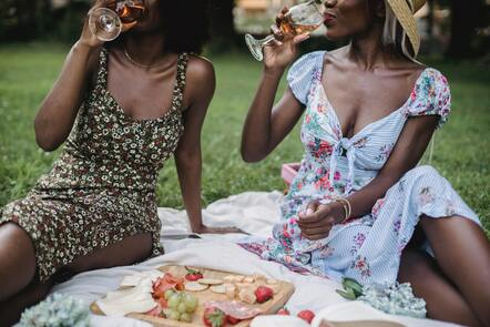 two women on a picnic