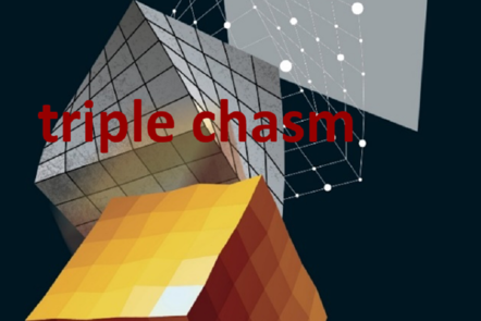 "Part of Scale-up Manual front cover image with the words ""triple chasm""."