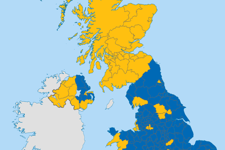 Map of voting patterns for Brexit