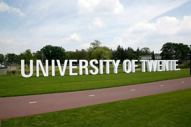 Logo at the entrance of the University of Twente (Enschede, The Netherlands)