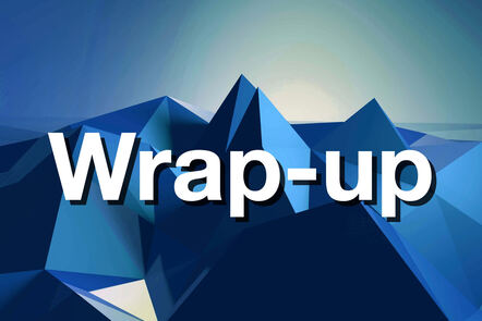 """Within Blue mountain with """"Wrap-up"""" written on it."""