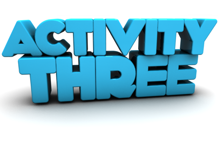 Activity Three in 3D lettering