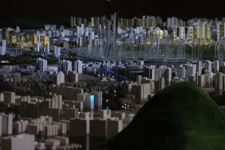 Model of the city of Kuala Lumpur, Malaysia